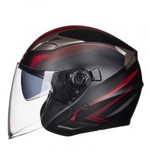 GXT G708 Electric Motorcycle Safety Helmet Black Red